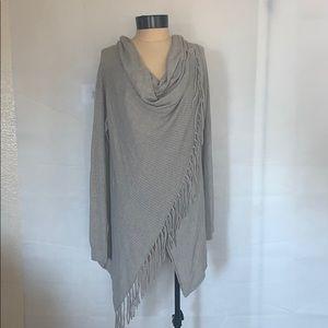 LoveStitch Asymmetrical Open Knit Sweater Cardigan